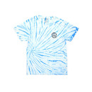 Catch Surf Circle Palm T Shirt in Blue Tie Dye