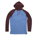 Hurley Stitch Hoodie Fleece Sweatshirt in Ocean Fog