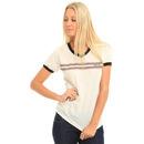 RVCA Retro Stripe T Shirt in Vintage Wht