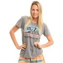Billabong Batik Cali Bear T Shirt in Dark Athletic Grey