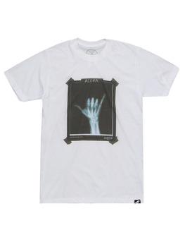 Surf Ride X-Ray Shaka T-Shirt in White
