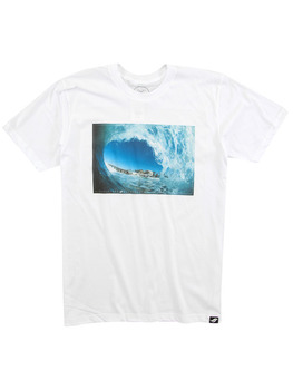 Surf Ride Oside Tunnel T Shirt in White