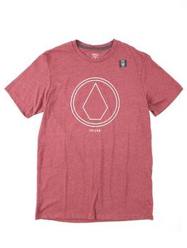 Volcom Pin Line Stone T Shirt in Merlot