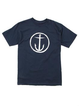 Captain Fin Co. OG Anchor T Shirt in Navy/White