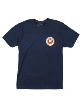 Surf Ride Invest USA T Shirt in Navy