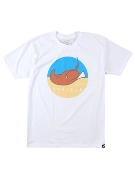 Surf Ride Shuffle T Shirt in White