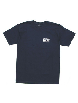 Brixton National T Shirt in Navy