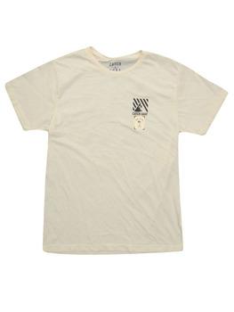Catch Surf Circle Script T Shirt in Glacier White