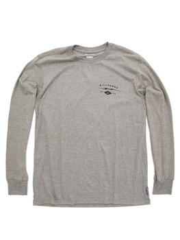 Billabong Shock L/S T Shirts in Dark Grey Heather