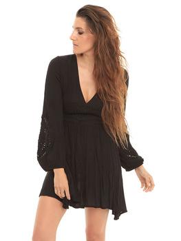 Volcom Nitescape Long Sleeve Dress in Black