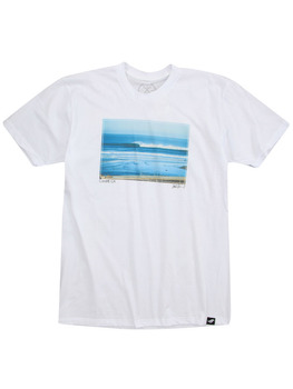 Surf Ride Cardiff T Shirt in White