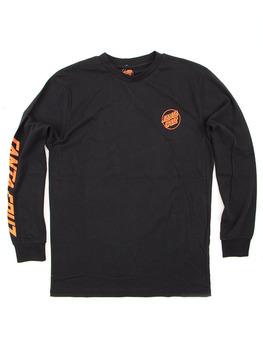 Santa Cruz SCS Simple Dot Long Sleeve Shirt in Black