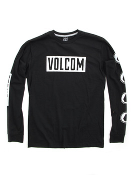 Volcom T-Shirt Knock Long Sleeve T Shirt in Black