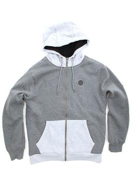 Volcom Single Stone Lined Zip Hoodie in Dark Grey