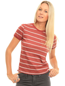 Volcom Down To Ride T Shirt in Brick