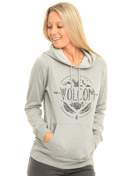 Volcom Barrel Out Hoodie in Heather Grey