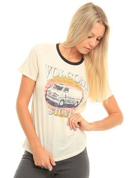 Volcom Sunset Voyage T Shirt in Vintage White.