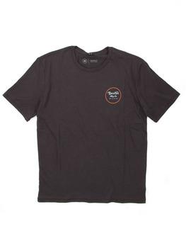Brixton Wheeler II T Shirt in Washed Black