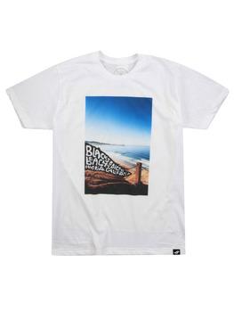 Surf Ride Black Flag T Shirt in White