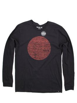 Hurley Circular Long Sleeve Shirt in Black 1