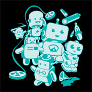 Cute Little Retro Robots