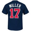 Atlanta Braves Shelby Miller MLB Player Name & Number T-Shirt (Navy)