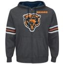 Chicago Bears Intimidating VI Full Zip NFL Hoodie (Charcoal)