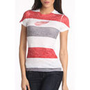 Detroit Red Wings Women's Thick Stripe FX Burnout T-Shirt