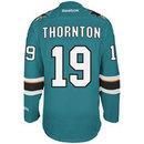 Joe Thonton San Jose Sharks Reebok Premier Replica Home NHL Hockey Jersey