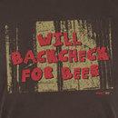 KractIce Backcheck For Beer Fine Jersey Vintage T-Shirt (Chocolate)
