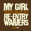 KractIce Re-Entry Waivers Fine Jersey Vintage T-Shirt (Chocolate)