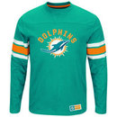 Miami Dolphins 2016 Power Hit Long Sleeve NFL T-Shirt With Felt Applique