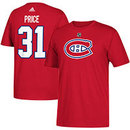 Montreal Canadiens Carey Price Adidas NHL Silver Player Name & Number T-Shirt