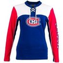 Montreal Canadiens Women's Visp Long Sleeve Lace Up Crew