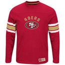 San Francisco 49ers 2016 Power Hit Long Sleeve NFL T-Shirt With Felt Applique