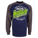 Seattle Seahawks Rounder Raglan Long Sleeve Jersey T-Shirt