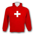 Switzerland National Emblem Pullover Hoody (Red)