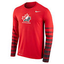 Team Canada IIHF Dri-FIT Hockey Classic Long Sleeve T-Shirt (Red)