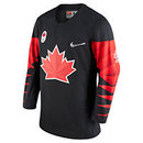 Team Canada IIHF Official 2018 Nike Olympic Replica Black Hockey Jersey