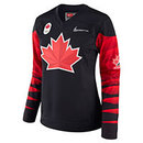 Team Canada IIHF Women's Fan 2018 Nike Olympic Replica Black Hockey Jersey