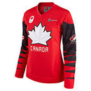 Team Canada IIHF Women's Fan 2018 Nike Olympic Replica Red Hockey Jersey