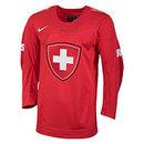 Team Switzerland IIHF Nike Official 2017-18 Replica Red Hockey Jersey