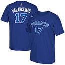 Toronto Huskies Jonas Valanciunas NBA Name & Number T-Shirt - Blue