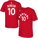 Toronto Raptors DeMar DeRozan NBA Name & Number T-Shirt - Red