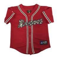 Atlanta Braves Majestic Child Alternate Replica Baseball Jersey (Scarlet)