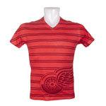 Detroit Red Wings Double Stripe Tri-Blend FX V-Neck T-Shirt