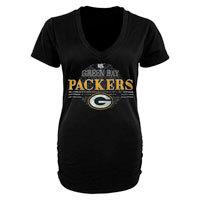 Green Bay Packers Women's Charm V-Neck Tri-Blend T-Shirt