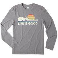 Life is Good Men's Guitar Dog LIG Cool Long Sleeve Tee