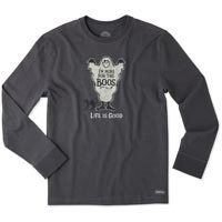 Life is Good Men's Here For The Boos Long Sleeve Crusher Tee