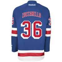 Mats Zuccarello New York Rangers Reebok Premier Replica Home NHL Hockey Jersey